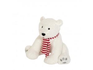 Χριστουγεννιάτικο λούτρινο Πολική Αρκούδα 23 εκ.