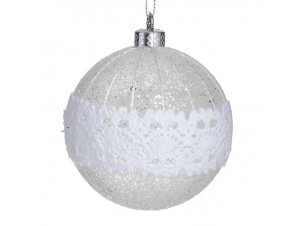 Χριστουγεννιάτικη Μπάλα Διάφανη Γυάλινη 8 εκ