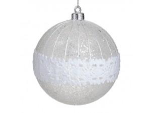 Χριστουγεννιάτικη Μπάλα Διάφανη Γυάλινη 10 εκ.
