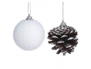 Χριστουγεννιάτικη μπάλα άσπρη 4 εκ.