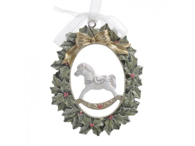 Χριστουγεννιάτικο Διακοσμητικό αλογάκι 7x9 εκ.