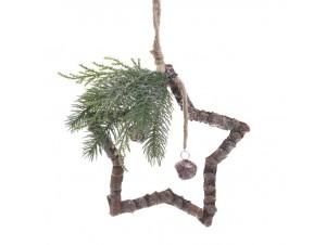 Χριστουγεννιάτικo Ξύλινο διακοσμητικό Αστέρι 32 εκ