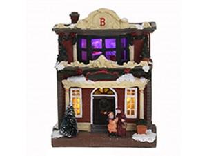 Χριστουγεννιάτικο φωτιζόμενο διακοσμητικό Σπιτάκι 15 x 9 x 20 εκ.