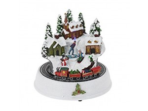 Χριστουγεννιάτικο σπιτάκι φωτιζόμενο 19.5 x 19 x 19 εκ.