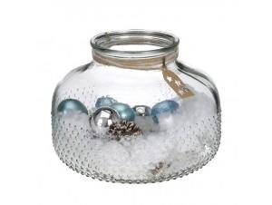 Γυάλινο βάζο με Χριστουγεννιάτικες μπάλες