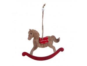 Χριστουγεννιάτικο ξύλινο στολίδι Αλογάκι 14Χ10,50 εκ.