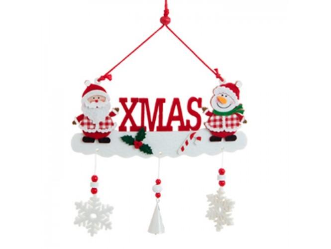 """Χριστουγεννιάτικο Διακοσμητικό κρεμαστό """"XMAS"""" 23x20 εκ."""