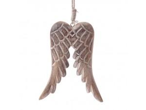 Χριστουγεννιάτικο στολίδι φτερά 11 εκ.