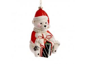 Χριστουγεννιάτικο Κρεμαστό Στολίδι Αρκουδάκι 13 εκ