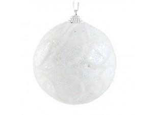 Σετ 6 τεμ. Λευκή Χριστουγεννιάτικη Μπάλα