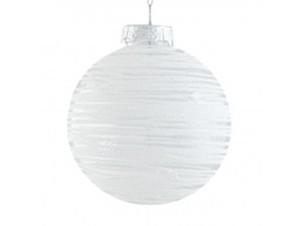 SET 6 τεμ. Χριστουγεννιάτικες γυάλινες άσπρες μπάλες 8 εκ