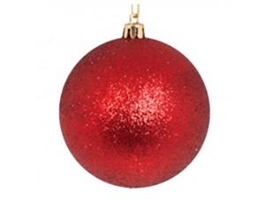 SET 6 τεμ. Χριστουγεννιάτικες κόκκινες μπάλες 8 εκ.