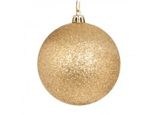 SET 6 τεμ. Χριστουγεννιάτικες χρυσές μπάλες 8 εκ