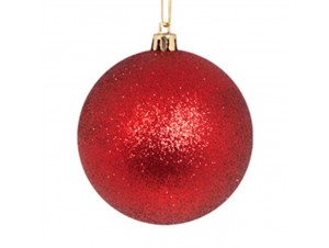 SET 2 τμχ. Χριστουγεννιάτικες κόκκινες μπάλες 10 εκ.