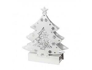 Χριστουγεννιάτικο φωτιζόμενο μεταλλικό Δέντρο 14 εκ.