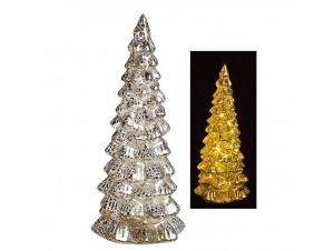 Χριστουγεννιάτικο φωτιζόμενο γυάλινο δέντρο 27 εκ.