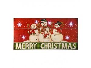 Χριστουγεννιάτικη Διακοσμητική Ταμπέλα με Led 40x20 εκ.