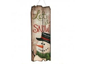 Χριστουγεννιάτικη Διακοσμητική Ταμπέλα με Led 60x21 εκ.