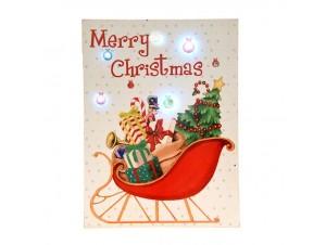 Χριστουγεννιάτικη Διακοσμητική Ταμπέλα με Led 15x20 εκ.