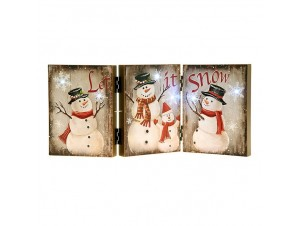 Χριστουγεννιάτικη Διακοσμητική Ταμπέλα με Led 46x20 εκ.
