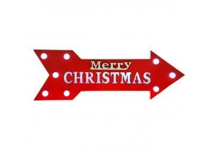 Χριστουγεννιάτικη Διακοσμητική Ταμπέλα με Led 60x20 εκ.