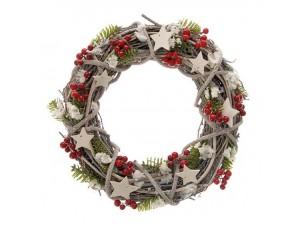 Χριστουγεννιάτικο στολισμένο στεφάνι 40 εκ