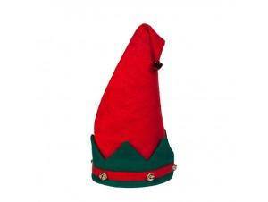 Χριστουγεννιάτικος σκούφος ξωτικού 38 εκ.