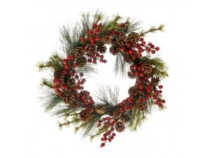 Χριστουγεννιάτικο στολισμένο στεφάνι 56 εκ