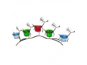 Χριστουγεννιάτικο Διακοσμητικό Κηροπήγιο 53x10x23 εκ.