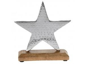 Διακοσμητικό αστέρι inox, 19x17 εκ.