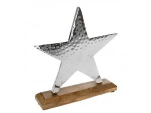Διακοσμητικό αστέρι inox, 23x21 εκ.