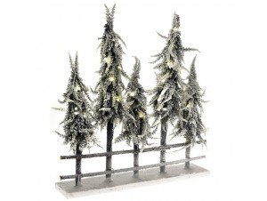 Χριστουγεννιάτικος Φωτιζόμενος Φράχτης με Δέντρα 55 x 60 εκ.