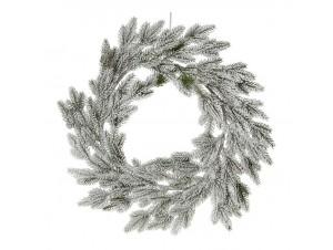 Χριστουγεννιάτικο χιονισμένο στεφάνι 50 εκ