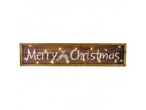 Χριστουγεννιάτικη ξύλινη φωτιζόμενη επιγραφή 60x14 εκ.