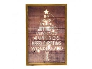 Χριστουγεννιάτικη ξύλινη φωτιζόμενη επιγραφή 20x30 εκ.