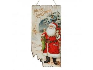 Χριστουγεννιάτικη ξύλινη επιγραφή 24x50 εκ.