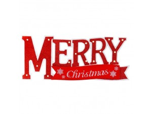 Χριστουγεννιάτικη ξύλινη επιγραφή 36x15 εκ.