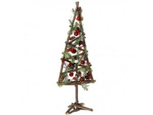 Χριστουγεννιάτικο Διακοσμητικό Ξύλινο Δέντρο 25x68 εκ.