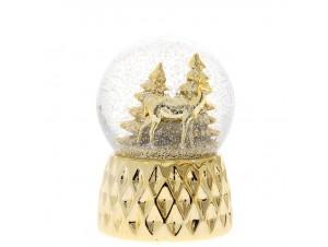 Χριστουγεννιάτικη χιονόμπαλα με μελωδία 10 εκ.