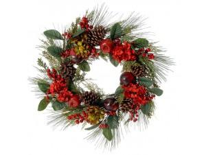 Χριστουγεννιάτικο στεφάνι με ρόδια 60 εκ.