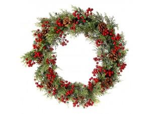 Χριστουγεννιάτικο στεφάνι με berries 70 εκ.