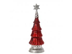 Χριστουγεννιάτικο Διακοσμητικό γυάλινο Δέντρο Φ 14x40 εκ.
