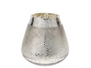 Γυάλινο βαζάκι-κηροπήγιο για κερί 11x12 εκ.
