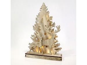 Χριστουγεννιάτικο διακοσμητικό ξύλινο 24x6x38 εκ.