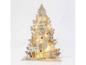 Χριστουγεννιάτικο διακοσμητικό ξύλινο φωτιζόμενο 88 εκ.