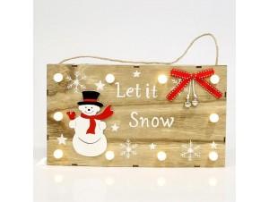 Χριστουγεννιάτικη φωτιζόμενη επιγραφή LET IT SNOW