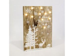 Χριστουγεννιάτικη Φωτιζόμενη Επιγραφή 27x5x40 εκ.