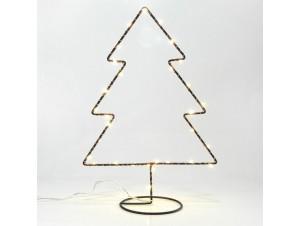 Χριστουγεννιάτικο Διακοσμητικό Δέντρο φωτιζόμενο Μεταλλικό 20Χ30,5 εκ.