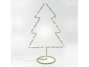 Χριστουγεννιάτικο Διακοσμητικό Δέντρο φωτιζόμενο Μεταλλικό 27Χ41 εκ.