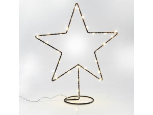 Χριστουγεννιάτικο Διακοσμητικό Αστέρι φωτιζόμενο Μεταλλικό  34Χ40 εκ.